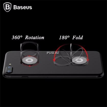Baseus Magnetic Mobile Phone Holder CellPhone Car Mount Finger Ring Desk Bracket