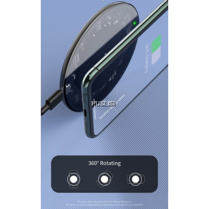 Baseus Original 15W Qi Wireless Charger for iPhone 11 Pro Xs Max X 8 Induction Fast Wireless Charging Pad for Samsung S20 Huawei Xiaomi 9