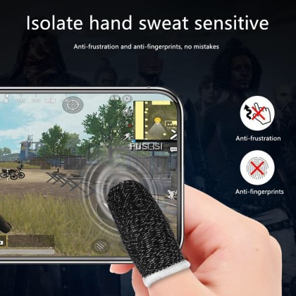2PCS Beehive Sleep-proof Sweat-proof Professional Touch Screen Thumbs Finger Sleeve for Pubg Mobile Phone Game Gaming Gloves