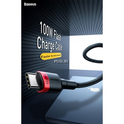 Baseus Original 200cm 100W PD USB Type C to USB C Cable 5A Fast Charger Cable for Samsung Ipad Mackbook