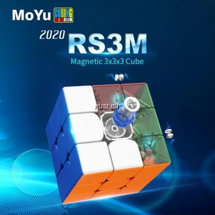 2020 Original Moyu RS3M Magnetic 3x3x3 Rubik Magic Cube MF3RS3 M 3x3 Rubik's Cube RS3 M Magnetic Speed Cube