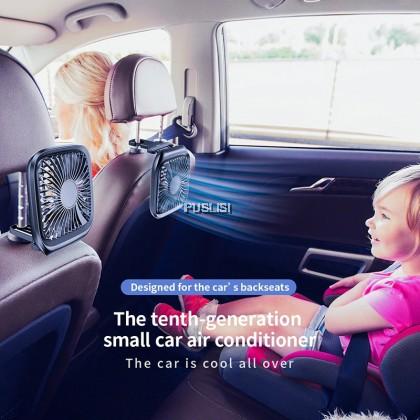 Baseus Original Car Fan Cooler Foldable Silent Fan For Car Backseat Air Condition 3 Speed Adjustable Mini USB Fan Desk Fan Auto Cooling