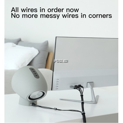 Baseus Original Cable Manegement Winder Wire Organizer Free Cut Strong Velcro Straps for Cable Various Wire Storage