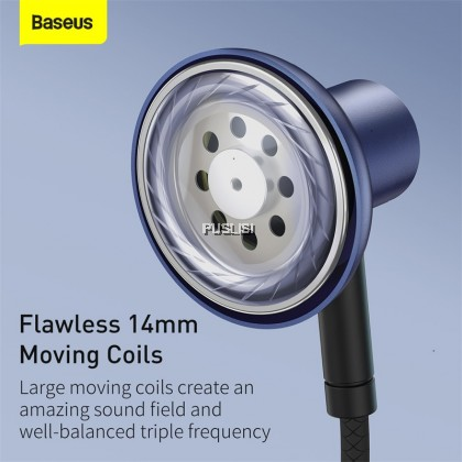 Baseus Original Wired Earphone 3.5mm Jack with Mic Stereo Headset H19 For iPhone Samsung Xiaomi Redmi Note Huawei