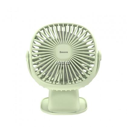 Baseus Original  Mini USB Rechargeable 360 Rotary Clamping Cooling Fan Warm Light Clip Fan