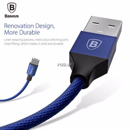 Baseus YIVEN Micro USB Charging SYNC data braided cable 1M FOR Samsung Huawei Android phone