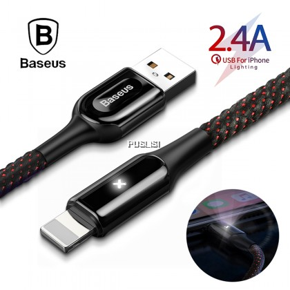 Baseus Original Led Light 2.4A Quick Fast Charging USB DATA Sync Cable For Lightning Iphone Ipad