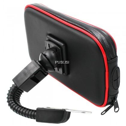 Bike Bicycle Motorcycle Holder Waterproof Case Bag Handlebar Mount phone Holder