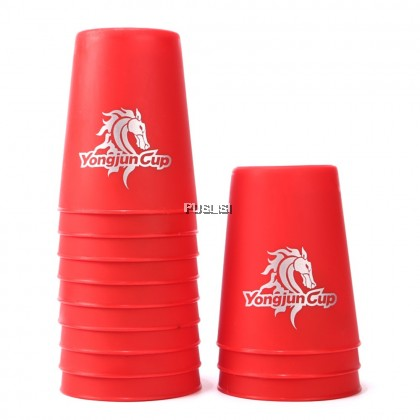 Yongjun Speed Flying Cup Stacking Rapid Cups YJ Quick Stacks Cup Speed Stacks Competitor UFO Cup Fly Stack Cup Set Rubik's Cube 12 Pieces UFO Cups Good Quality Speed Stacks Sport Stacking Flying Rapid Cups
