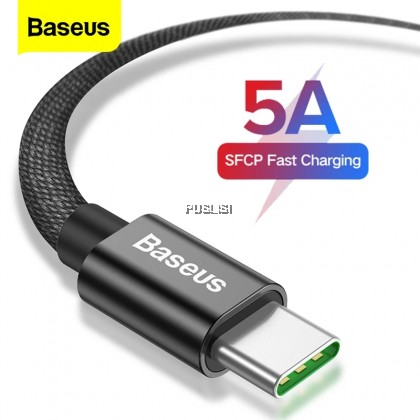 Baseus 5A Super Quick Charge USB Type C Cable Fast Charging Type-C Cable Super Charge VOOC Charge USB Data Cable Android Flash Charging 2A For Huawei Mate 20 P9 Mate 9 OPPO Find X Samsung Note 8  HTC