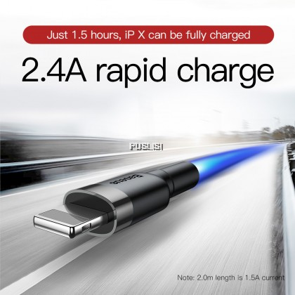 Baseus Original 2.4A Quick Fast Charging USB DATA Sync Cable For Lightning Iphone Ipad