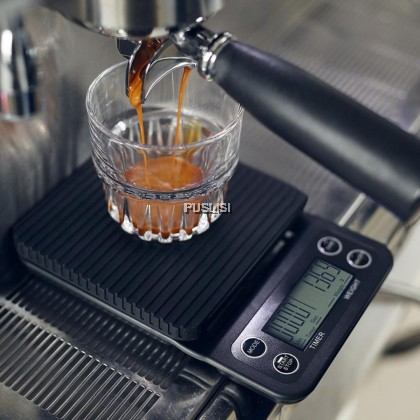 5000g 0.1g Coffee Drip Scale Timer Digital Scale Jewellery Scale Mini Digital LED Display Coffee Drip Scale With Timer Kitchen Tools