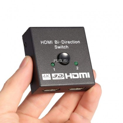 HDMI Bi Directional Switcher 4K Splitter HD 3D 2 in 1 Out 1 in 2 Out Switch