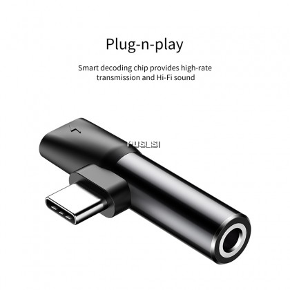 Baseus Type C to 3.5 mm Headphone and Charger AUX Audio Jack USB C Cable Adapter