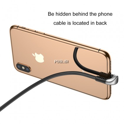 Baseus Original LED Light Mobile Phone Play Game U-Type USB Charging Cable for iPhone 11 X S Pro Max Pubg