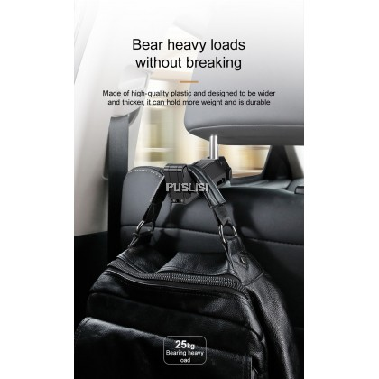 Baseus Back Seat Car Hanger Hook and Phone Holder Mount 2in1 Hideable Backseat Easy Install High Quality Travel Vehicle